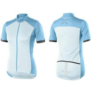 2XU Women's Active Cycle Jersey Blue White Small