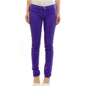 Sz 27 J Brand Purple Skinny Straight Leg Jeans Cuffed Hem Or Raw Edge Leg CELEB