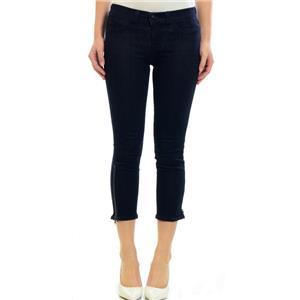 NWT Authentic J Brand Ava Low Skinny Capri Crop Jeans Mystique Zip Ankle Stretch
