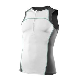 2XU Elite Compression Tri Singlet Men's Medium White Charcoal