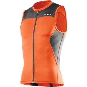 2XU Mens's G:2 Multi Sport Singlet Medium Orange