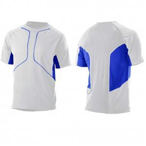 2XU Mens Comp Run S/S Top White/Blue Medium