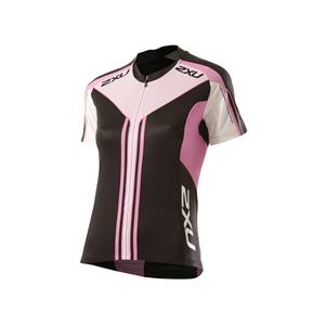 2XU Cycle Sub S/S Jersey Women's Small Pink/Black