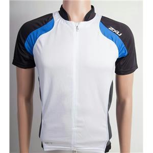 2XU Elite X Cycling Jersey Men's White/Blue