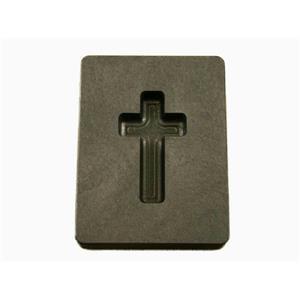 "1 oz Custom Cross Gold High Density Graphite Mold Silver Necklace 1-7/16"""