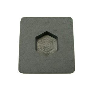 1 oz Gold Hexagon High Density Graphite Mold  1/2 oz Silver Bar Ingot Copper