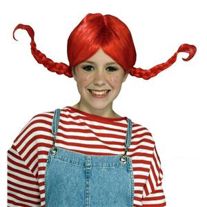 Forum Red Braided Pigtail Costume Wig
