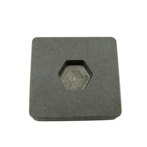 1/2 oz Gold 1/4 oz Silver Bar High Density Graphite Hexagon Mold -Copper-Custom
