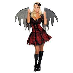 Secret Wishes Sexy Vampire Fairy Adult Costume with Wings Size XS 0-2