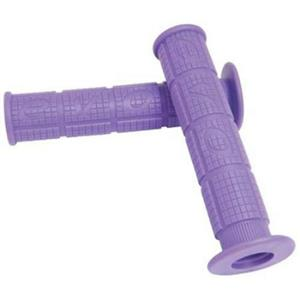 Evo Throttle MX Mountain Bicycle Handle Bar Grips w/Flange - 140mm (Purple)