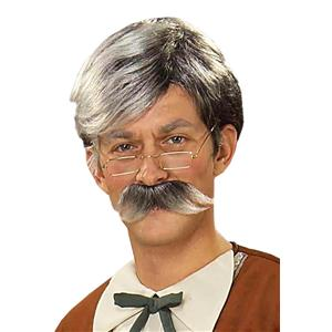 Gepetto Gray Wig and Mustache Set