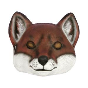 Deluxe Child Fox Plastic Animal Costume Face Mask