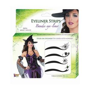 Deluxe Spider Web Spiderman Spiderwoman Stick On Eyeliner Accessory Makeup Kit