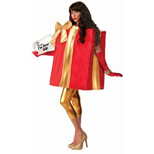 Forum Novelties The Gift Christmas Present Red and Gold Unisex Adult Costume