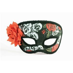 Forum Novelties Women's Day of the Dead Skull & Roses Deluxe Eye Mask