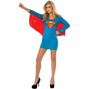 Women's DC Superheroes Supergirl Wing Dress Adult Sexy Costume Size Small