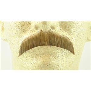 Light Brown 100% Human Hair Hippie Bandit 70s Basic Character Mustache 2015