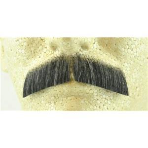 Dark Grey 100% Human Hair Hippie Bandit 70s Basic Character Mustache 2015