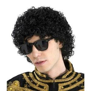 80's Pop King Michael Jackson Short Black Afro Look Adult Wig