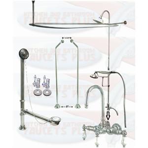 Cck2181pl Chrome Clawfoot Tub Faucet Kit Kitchen Bathroom Faucets Plus