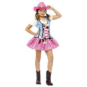 Fun World Rodeo Sweetie Girls Pink Cowgirl Costume Child Medium 8-10