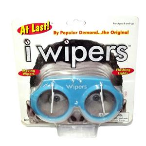 Blue iWipers Windsheild Wiper Flashing Lights Costume Glasses Goggles