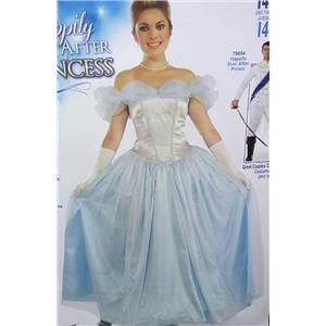 Forum Women's Happily Ever After Princess Blue Cinderella Costume Dress