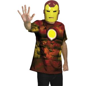 Disguise Teen Boy's Iron Man Shirt and Mask Alternative Costume Kit 14-16