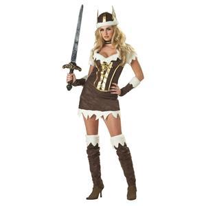 California Costume Sexy Viking Vixen Adult Costume Warrior Size Large 10-12