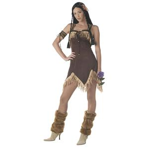 California Costume Sexy Native American Indian Princess Adult Costume Large
