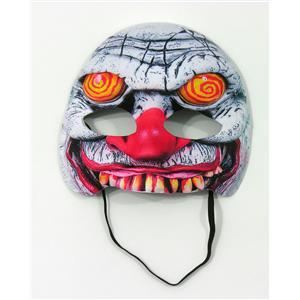 Forum Novelties Swirl Eyes Evil Clown Half Face Mask