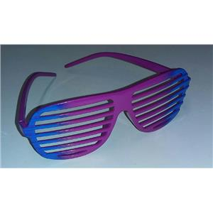 Blue to Purple Ombre Two Tone Aviator Blinds Shutter Shades Glasses
