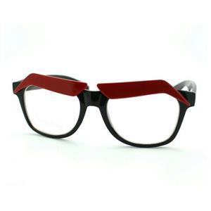 Black Frame Funny Red Eyebrows Eyeglasses Clear Lens Novelty Cartoon