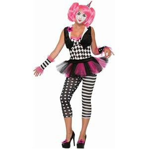 Forum Novelties Women's Sexy Harlequin Tricksy the Clown Adult Size M-L (8-12)