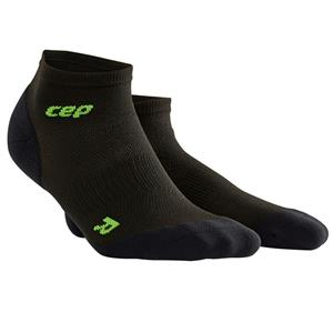CEP Men's Ultralight No‑Show Socks Black/Green Men's 8-11