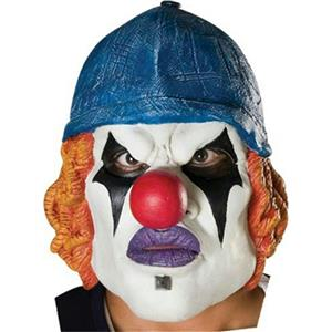 Neighborhood Klownz Twisted Red Latex 3/4 Evil Clown Mask