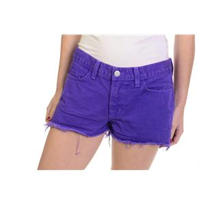 Size 27 J Brand Bright Purple Cutoff Raw Edge Jean Shorts USA MADE 1046O250