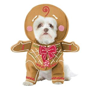 Gingerbread Pup Dog Pet Christmas Costume Size Small
