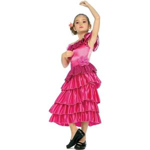 Girls' Pink Spanish Princess Dancer Costume Child Medium 8-10
