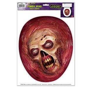 Peel 'N Place Bloody Zombie Head Toilet Topper Joke Gag