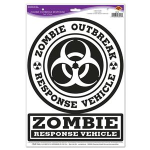 Peel 'N Place  Zombie Outbreak Response Car Stickers