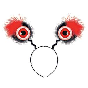 Furry Red Eyeball Boppers Headband