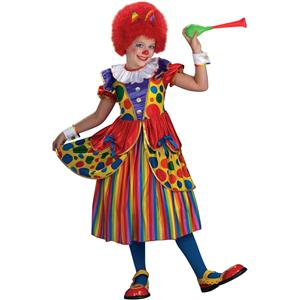 Forum Novelties Girl's Clown Princess Child Costume Dress Size Small 4-6