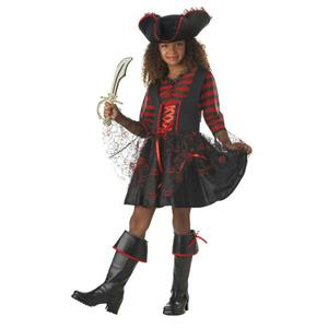 Girls California Costumes Cap'n Cutie Pirate Captain Child Costume Small 6-8