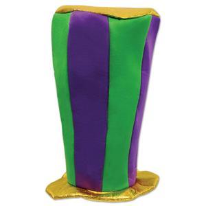 Beistle Plush Mardi Gras Tall Top Hat