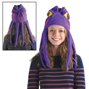 Purple Plush Octopus Costume Hat