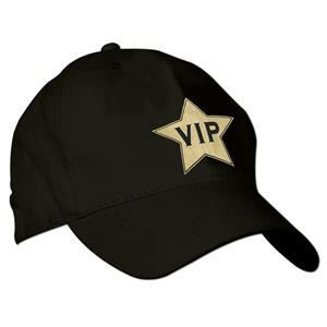Adjustable Black VIP Embroidered Baseball Cap