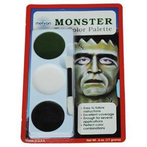 Mehron Tri-Color Palette Monster Professional Makeup Kit