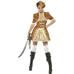 Smiffy's Women's Fever Sexy Steampunk Pirate Adult Costume Size Medium 10-12