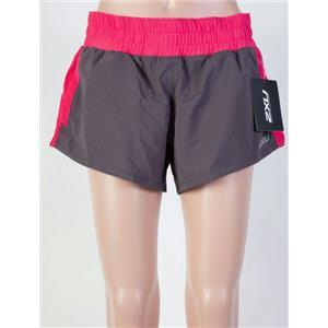 """2XU Women's Pace 3"""" Short Charcoal/Pink Small"""